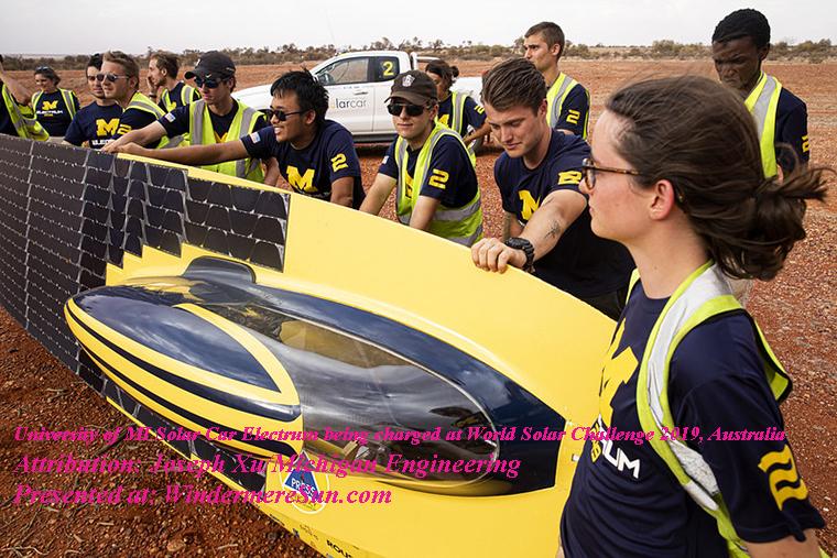World Solar Challenge-u-m-solar-car-team-Electrum being charged final