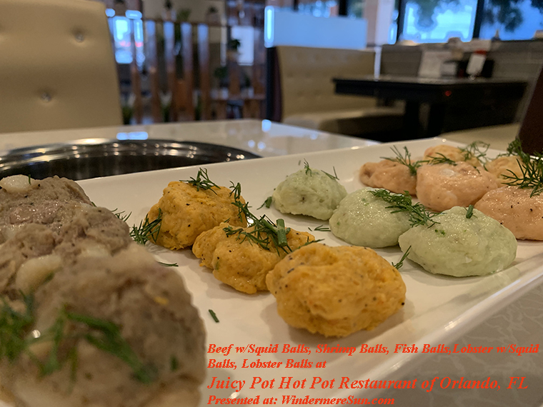 beef w squidballs, shrimp balls, fish ball, lobster w squid balls, lobster balls final