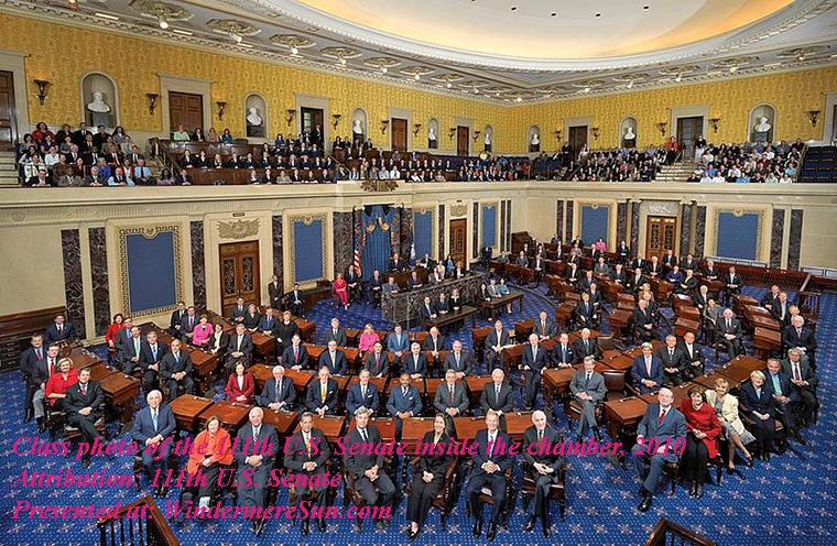 Class photo of the 111th United States Senate inside the chamber, 2010, attribution-111th U.S. Senate, PD final