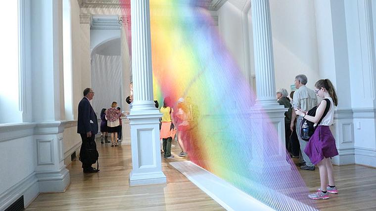 Colored String, Gabriel Dawe, Plexus a1, 2015, Renwick Gallery of the Smithsonian American Art Museum, Washington, D.C., Attribution-Eb01782, CC.4.0 final