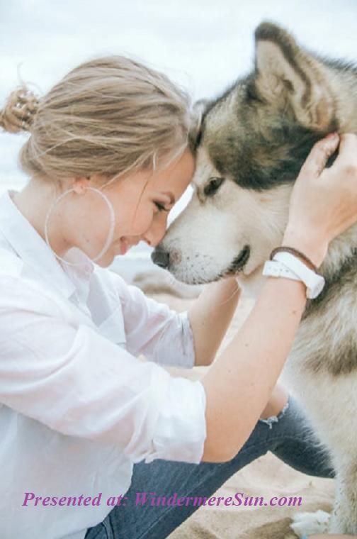 Pet of 3-7-2020, girl and her dog white husky, final