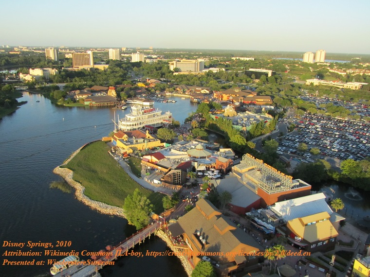 Disney Springs (Attribution-Wikimedia Commons ILA-boy.) Orlando_Florida_April_2010_13 final