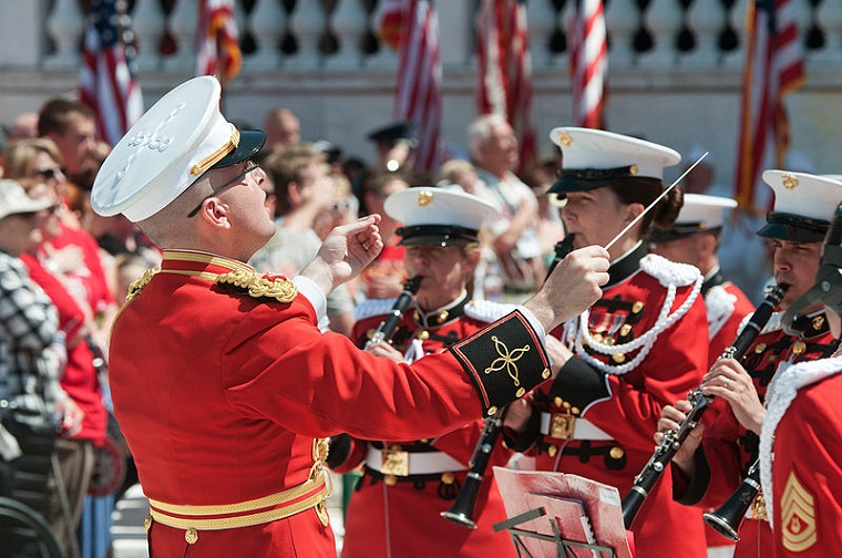 U.S. Marine Band on Memorial Day, 2015, PD, Remembering_the_fallen_at_ANC_on_Memorial_Day_150525-A-FT656-762 final