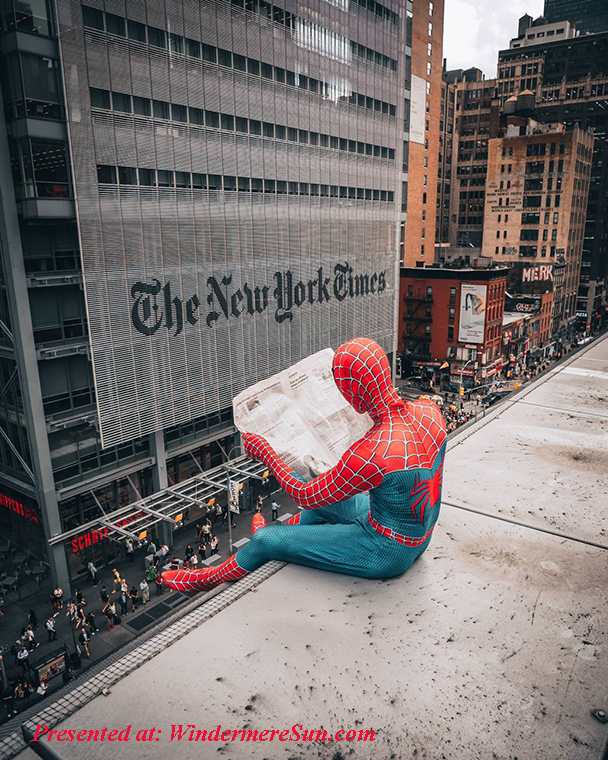 New York Times read by Spiderman final