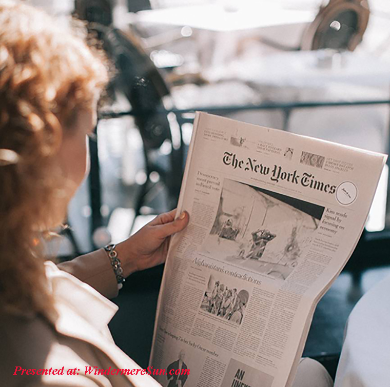 new york times read by woman, pexels-photo-1524146 final